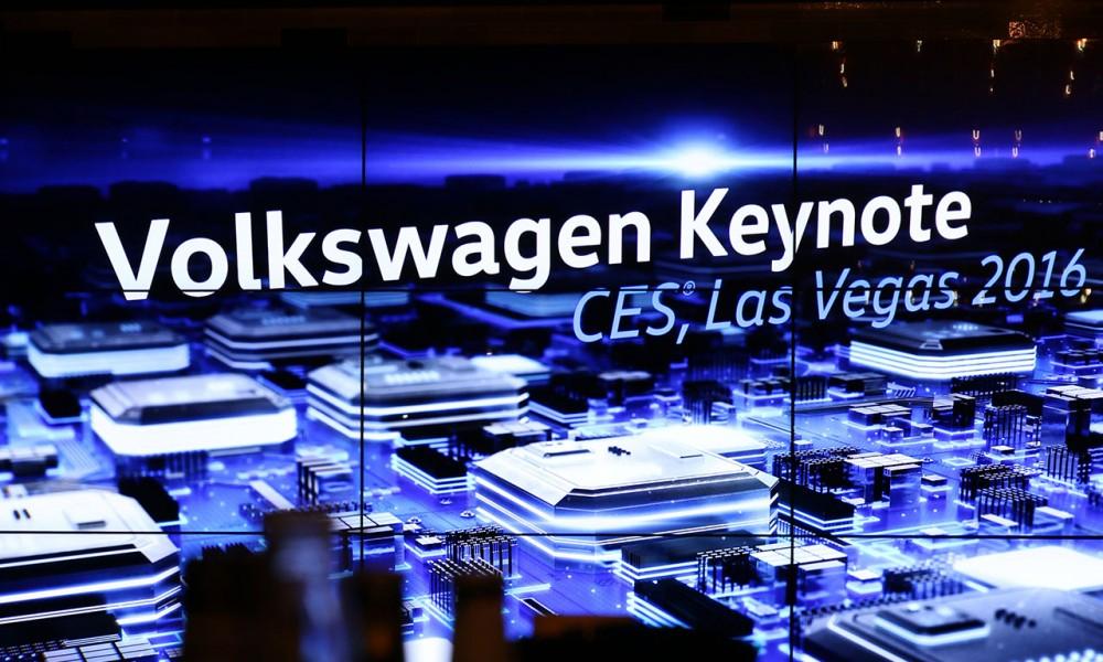 VOLKSWAGEN Keynote auf der CES Las Vegas 2016