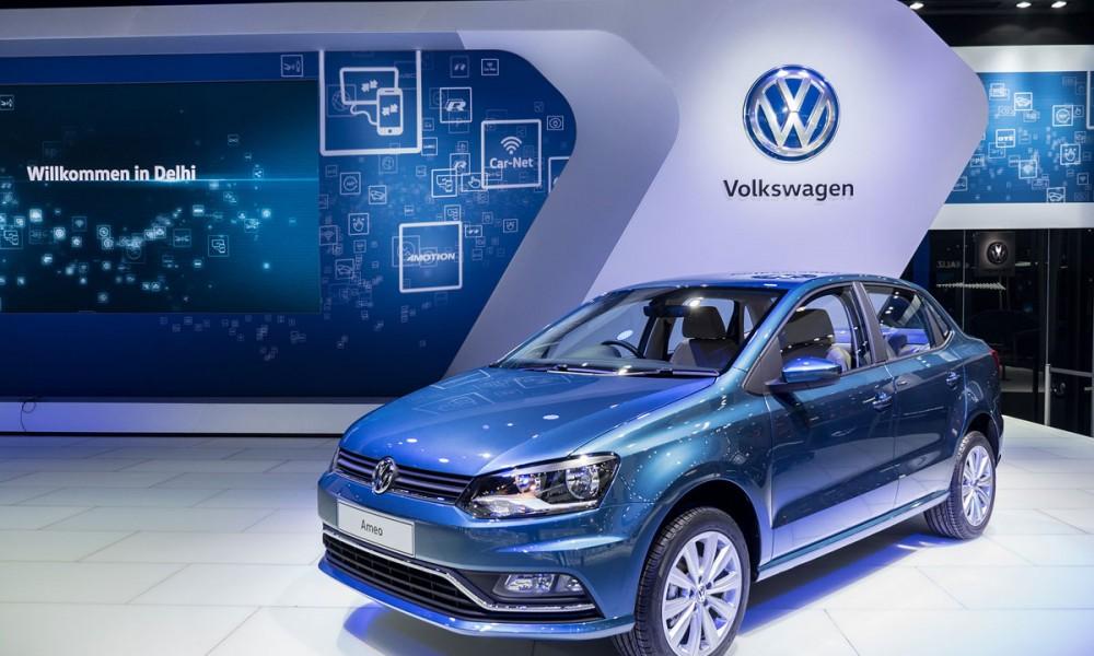 VW Messestand auf der  Auto Expo in Neu Delhi