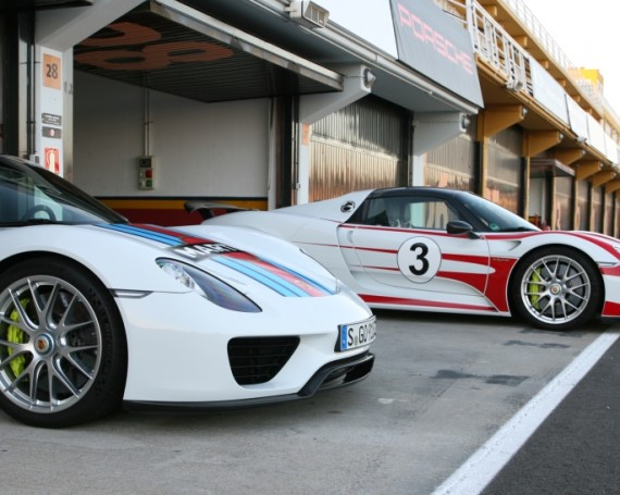 Porsche 918 Spyder drivers show 2014