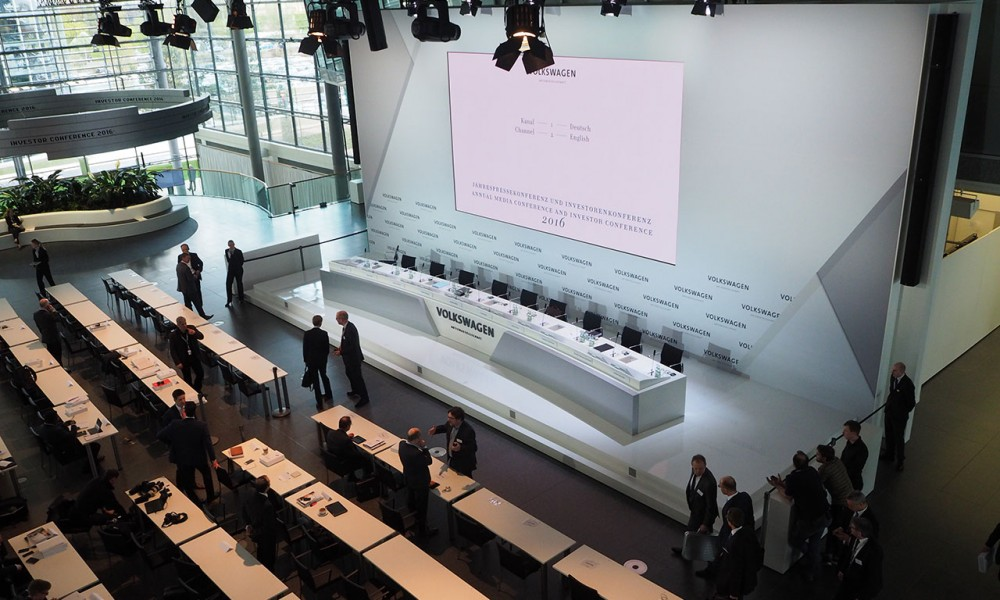 Die Jahrespressekonferenz 2016 des Volkswagen Konzerns