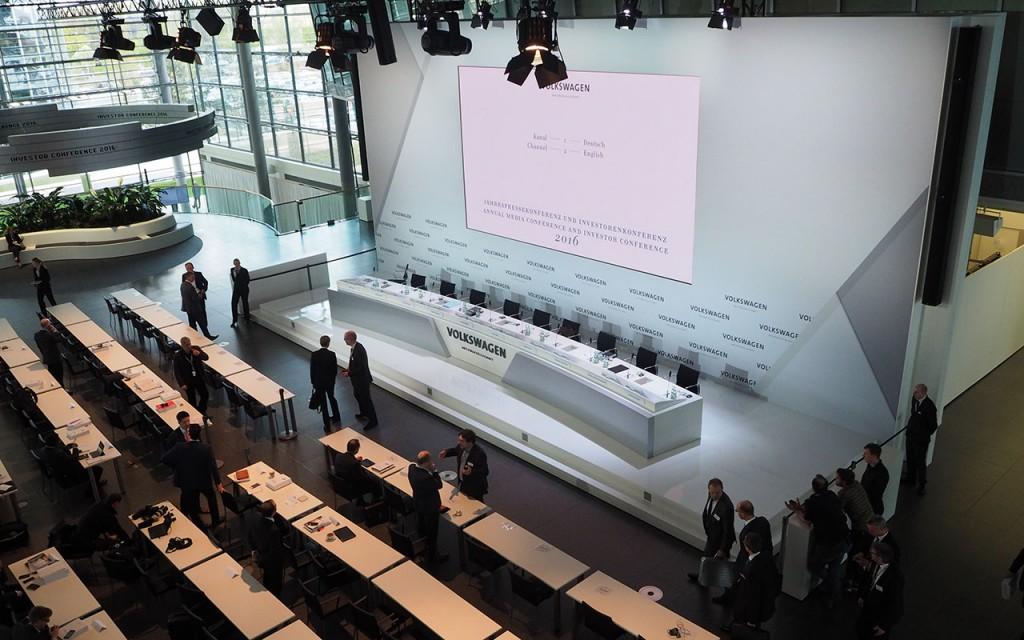 Jahrespressekonferenz 2016 des Volkswagen Konzerns