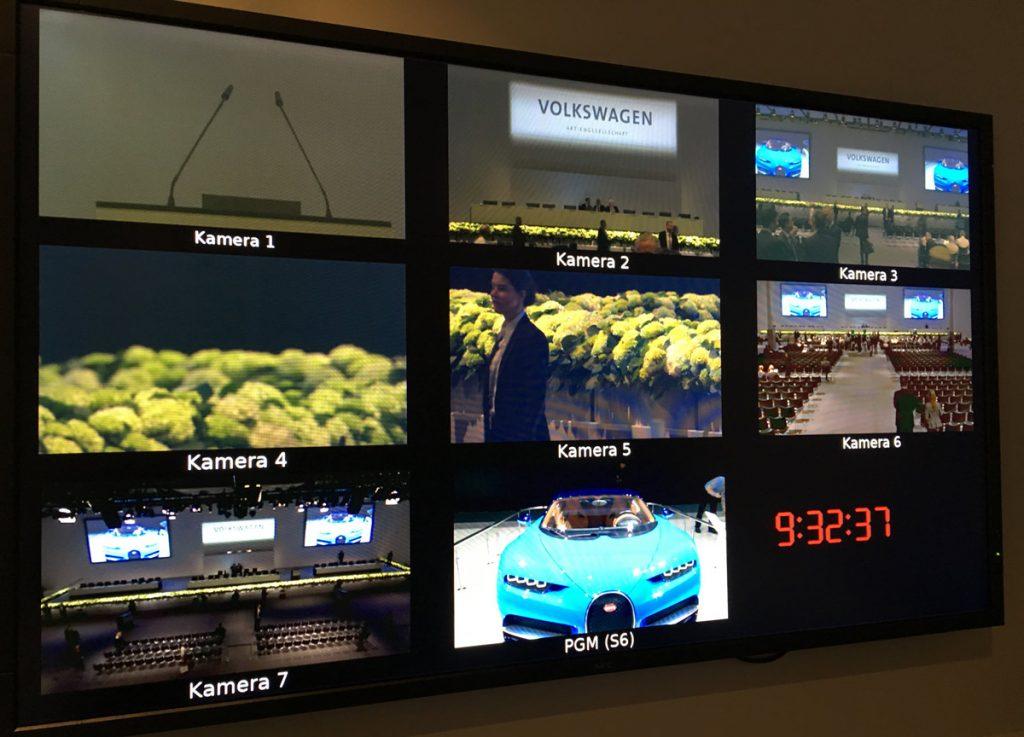 VW AG Hauptversammlung 2017 - Videotechnik