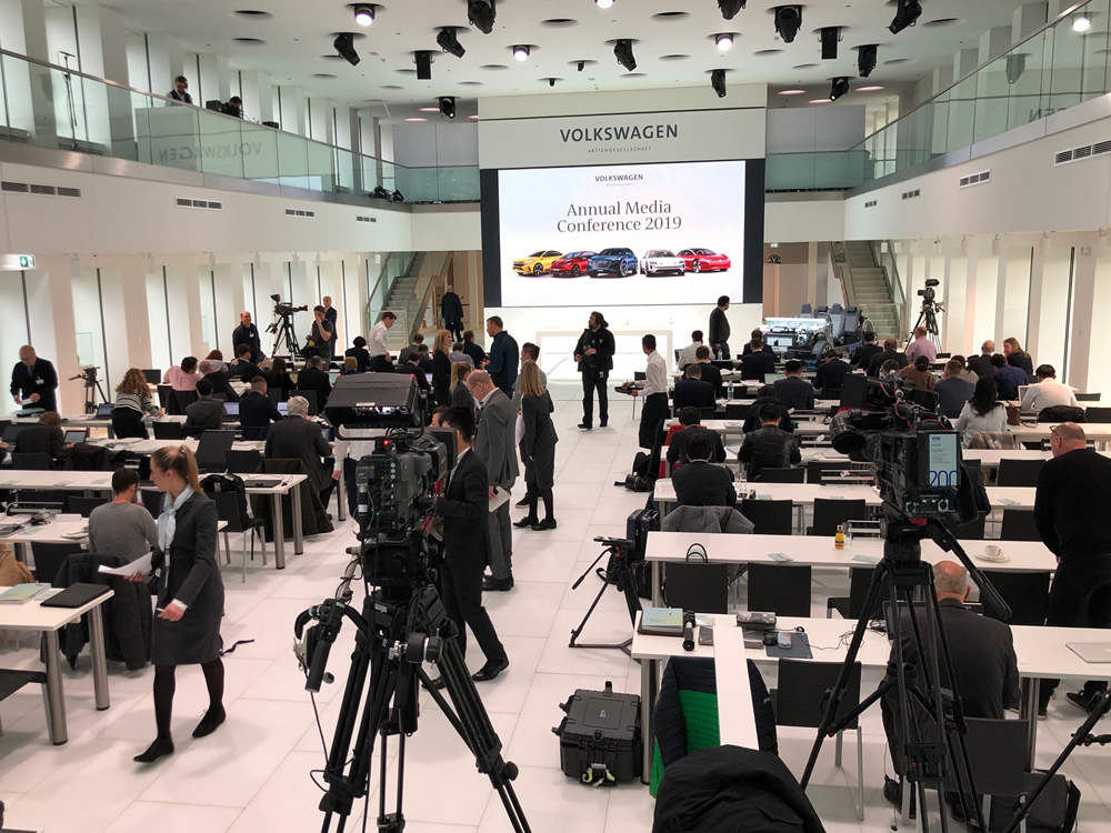 Jahrespressekonferenz 2019 im Markenhochhaus