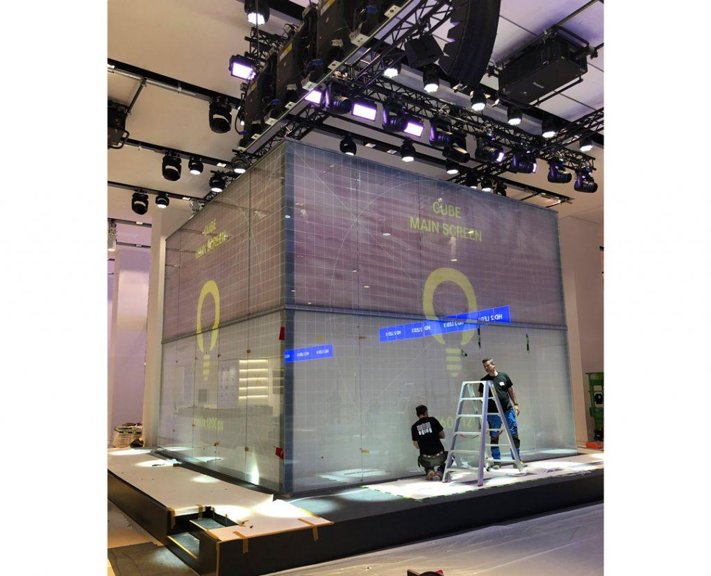VW Pressekonferenz zum ID-Launch im DRIVE - Aufbau