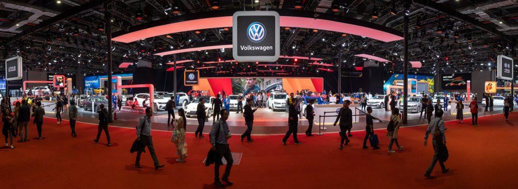 Auto China Shanghai 2019 - Volkswagen Messestand Panorama